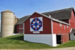 """Wisconsin Star"" Barn Quilt, #57, Krakow, Shawano County, Wisconsin"