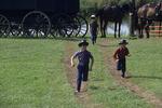 Amish Children at Auction, Bonduel, Wisconsin