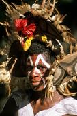Kundiman Village Girl in Paint and Headdress, Papua New Guinea