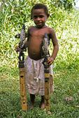 Boy with Carved Flutes, Sepik River Area, Papua New Guinea