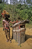 Huli Wigman Chief and Grave Site, Tari Highlands, Papua New Guinea
