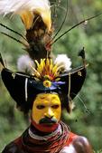 Huli Wigman Dancer at Sing Sing, Tari Highlands, Papua New Guinea
