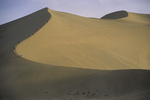 Mingsha Sand Dune with People Climbing to Top, Dunhuang, China