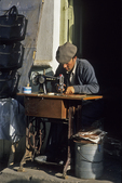 Sewing Leather at Kashgar Sunday Market, China