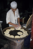 Cooking Nan Bread, Xian, China