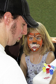 Face Painting, Art in the Park, Appleton, Wisconsin