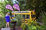 The Magic School Bus at Bookworm Gardens, Sheboygan, Wisconsin