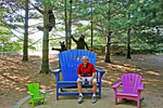 Don and the Three Bears at Bookworm Gardens, Sheboygan, Wisconsin