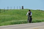 Amish Boy on Bicycle Going to Sunday Service, Bonduel, Wisconsin
