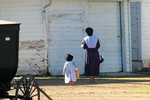 Amish Mother & Daughter Before Sunday Service, Bonduel, Wisconsin