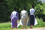 Amish Girls Going to Sunday Service, Bonduel, Wisconsin