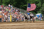 Horseback Rider with American Flag, Mid-Western Rodeo, Manawa, Wisconsin