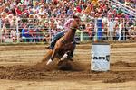 Women's Barrel Racing, Mid-Western Rodeo, Manawa, Wisconsin