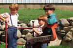 Amish Children on Harry Bontrager Farm, Bonduel, Wisconsin