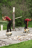 Lumberjacks with Axes, Lumberjack Show, Woodruff, Wisconsin