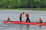 Lumberjacks Fighting In Canoes, Lumberjack Show, Woodruff, Wisconsin