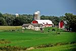 Amish Farm and Barns, Green Lake County, Wisconsin