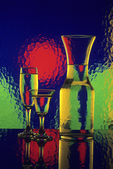 Carafe and Glasses in Color, Appleton, Wisconsin