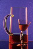 Pitcher and Goblet in Colors on Glass, Appleton, Wisconsin