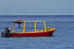 Fishing Boat in Caribbean Ocean, Cozumel, Mexico