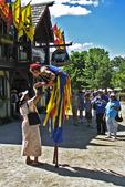 The Stiltwalker with Visitors at Bristol Renaissance Faire, Bristol, Wisconsin