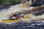 Canoe Racers Going Down Rapids, Wausau, Wisconsin
