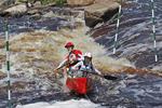 Canoe Racing Team Going Through Rapids, Wausau, Wisconsin