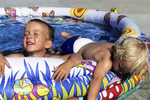 Boys Cooling Off in Pool, Appleton, Wisconsin