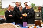 Amish Girls Finding Treasures At Auction, Bonduel, Wisconsin