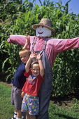 The Boys and The Scarecrow, The Farm, Door County, Wisconsin