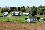 Amish Farms in Valley, Monroe County, Wisconsin
