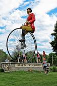 Big Bike Statue With Kids, Ben Bikin Park, Sparta, Wisconsin