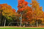 Dells of Eau Clair Park in Fall, Wausau, Wisconsin
