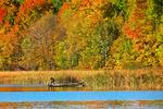Fishing on White Lake in Fall, Bonduel, Wisconsin