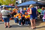 Little Pumpkin People for Sale At Octoberfest on College Avenue, Appleton, Wisconsin