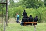 Amish Playing Baseball at School, Green Lake County, Wisconsin