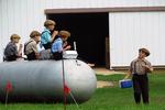 Amish Boys Having Lunch At School, Bonduel, Wisconsin