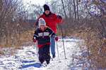 Aaron Learning to Cross-Country Ski in Winter at Bubolz Nature Preserve, Appleton, Wisconsin