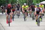 Bikers in the Race, Menasha, Wisconsin