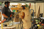Chainsaw Wood Carvers at Work, US Open Chainsaw Sculpture Championship, Eau Claire, Wisconsin