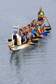 Half Moon Dragon Boat Festival Boat Coming To Shore, Half Moon Beach, Eau Claire, Wisconsin