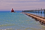 Sturgeon Bay Pierhead Lighthouse, Lake Michigan, Door County, Wisconsin