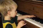Austin at the Piano, Appleton, Wisconsin