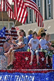 Float With People and Flags, Flag Day Parade, Appleton, Wisconsin
