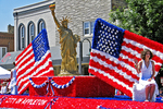 Patriotic Float in Flag Day Parade, Appleton, Wisconsin