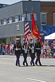Military Color Guard at Flag Day Parade, Appleton, Wisconsin