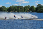Wisconsin Rapids Barefoot Waterski Competition at Tomahawk, Wisconsin