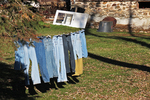 Jeans On Line at Amish Farm, Columbia County, Wisconsin