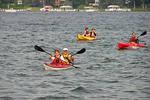 Kayakers on Lake Geneva, Lake Geneva, Wisconsin