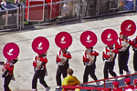 UW-Madison Band Tubas Playing For Fans, Camp Randall, Football Game, Madison, Wisconsin